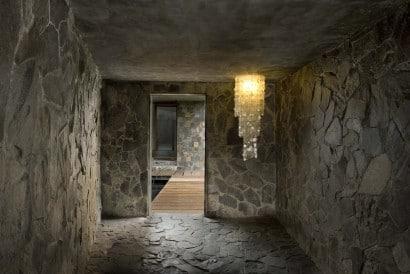 Diseño de interiores enchapado de piedra