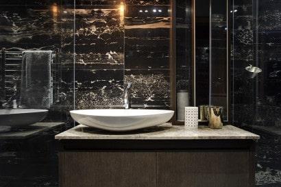 Diseño de lavabo de minidepartamento