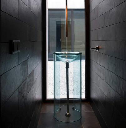 Diseño de lavabo para cuarto de baño transparente contemporist.com