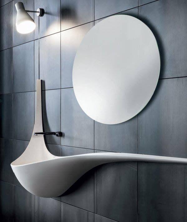 Lavabos Para Baño Modernos:Sink Wing Wall Interior Design