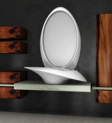 Diseño de lavatorio moderno color blanco Furnime.com