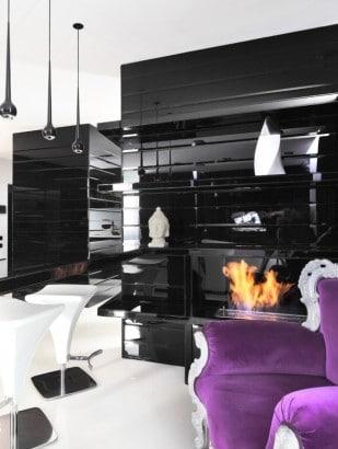 Diseño de moderna chimenea
