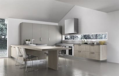 Diseño de moderna cocina minimalista