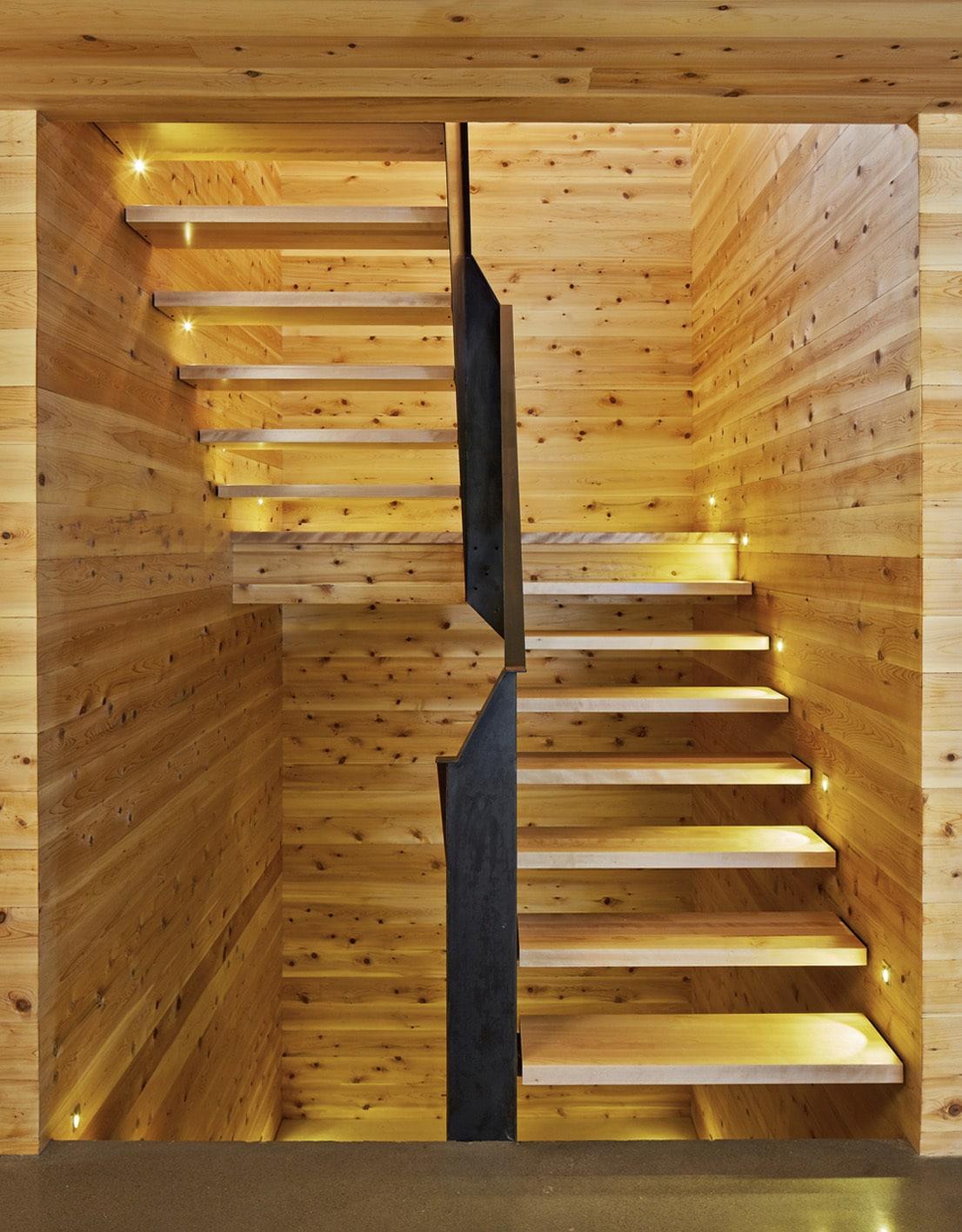 Dise o de moderna escalera de madera 2 construye hogar - Escaleras de madera modernas ...