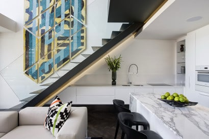 Diseño de sala comedor cocina de minidepartamento