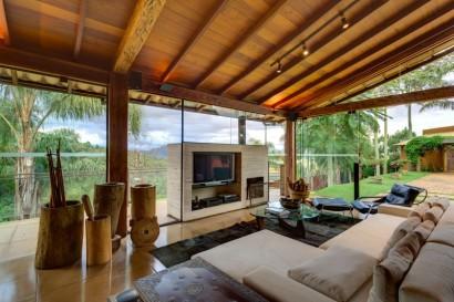 Diseño de sala de casa de campo