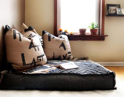 Diseños de cojines reciclados