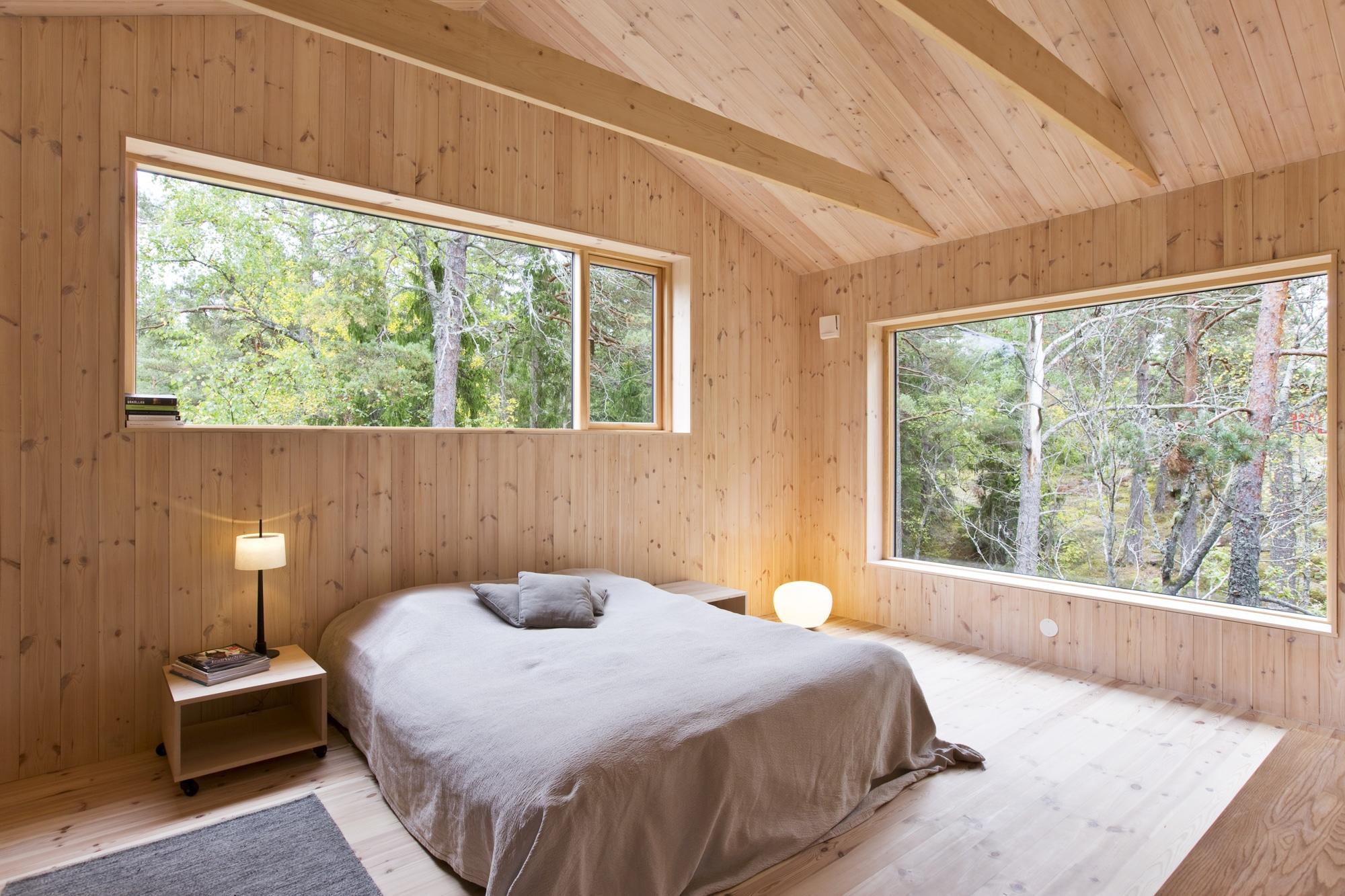 Dise o de casa peque a de madera fachada planos - Dormitorio de madera ...