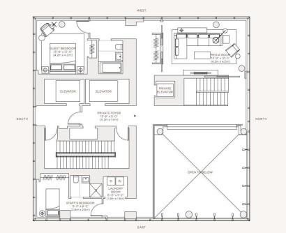 Planos apartamento de lujo, piso 59