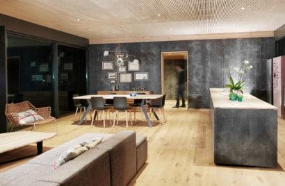 Sala comedor de casa pasiva prefabricada