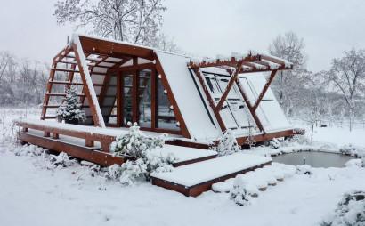 Diseño de casa pequeña autosustentable en clima frio