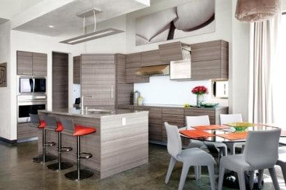 Diseño de cocina moderna gris