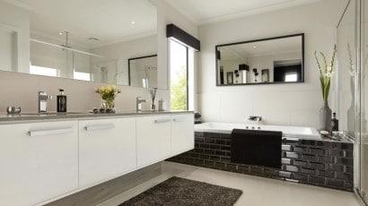 Diseño de cuarto de bañño moderno