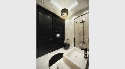 Diseño de cuarto de baño retro 2