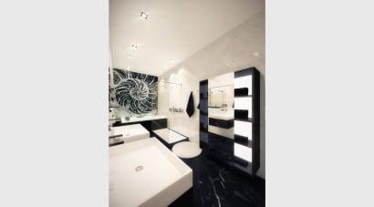 Diseño de cuarto de baño retro 3