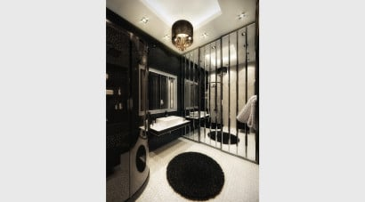 Diseño de cuarto de baño retro