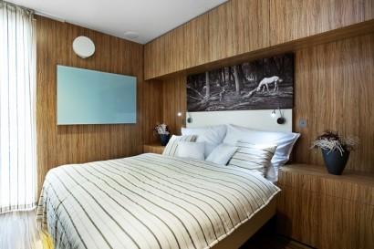 Diseño de dormitorio de casa prefabricada