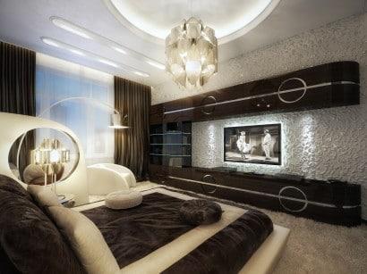 Diseño de dormitorio  principal estilo retro 2