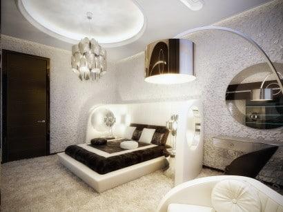 Diseño de dormitorio retro