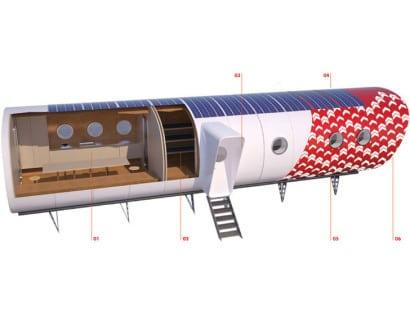 Diseño de interior de cabaña rufugio