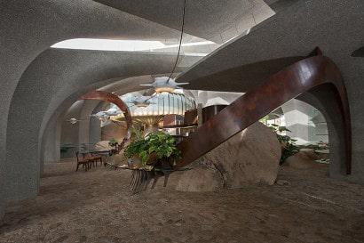 Diseño de interiores de casa orgánica 2