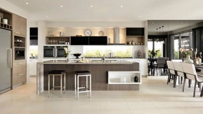 Diseño de moderna cocina
