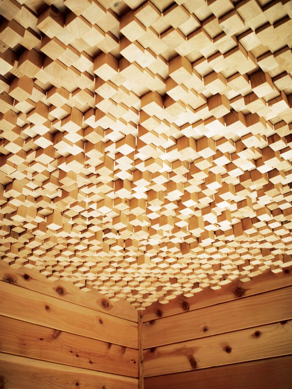 Dise o de techo de madera construye hogar - Techo de madera interior ...