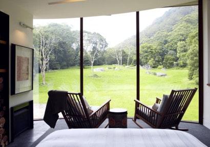 Diseño de terraza con vista al campo