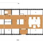 Plano de cabaña modular