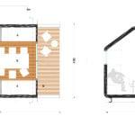 Plano de cabaña pequeña modular