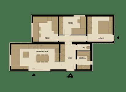 Plano de casa prefabricada de madera Z