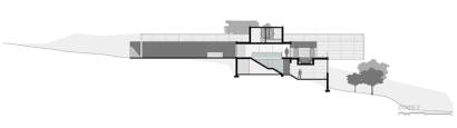 Plano de corte de casa moderna 2