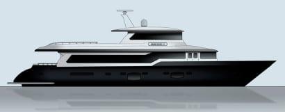 Diseño de barco moderno