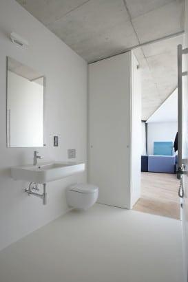 Diseño de cuarto de baño irregular