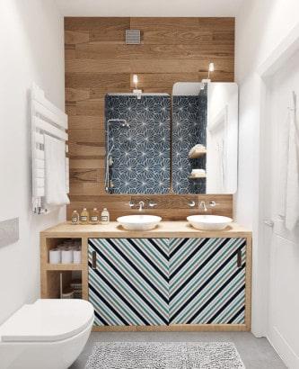Diseño de cuarto de baño juvenil