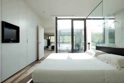 Diseño de dormitorio color blanco