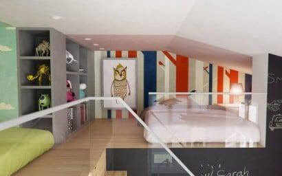 Diseño de dormitorio de niños