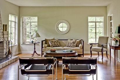 Diseño de interiores de sala rústica