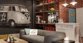 Diseño de interiores juvenil sala estar