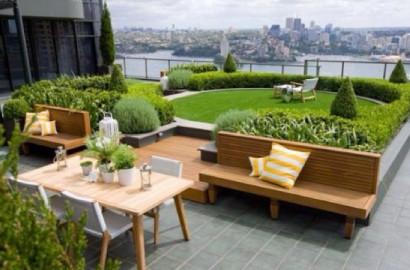 Diseño de jardín en el techo Becc4rooz en Pinterest