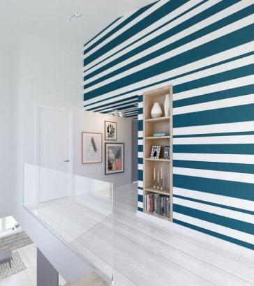 Diseño de pared a rayas