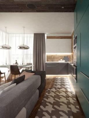 Diseño de piso especial para cocina