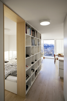Diseño de tabique de apartamento pequeño