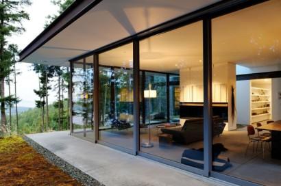 Diseño de ventanales en casa de campo