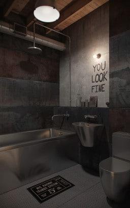 Diseño original de cuarto de baño behance.net