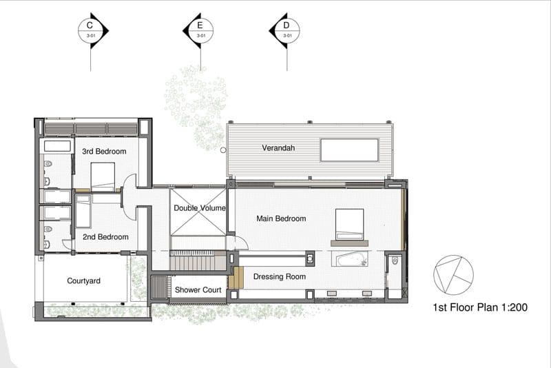 Planos de casa de dos pisos construida en terreno cuadrado : Construye ...