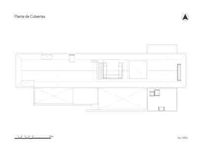 Plano del techo de la casa de campo