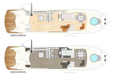 Planos de distribución en barco