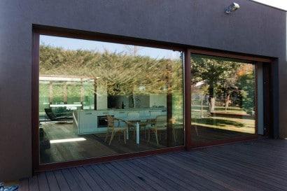 Vista del interior de casa cercada