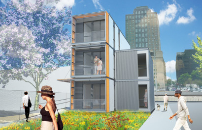 Diseño de casa modular de varias plantas